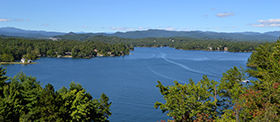 Aerial of Lake Keowee